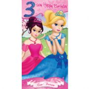 Gem Fairies Age 3 Birthday Card